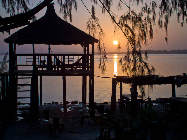 Sun Rise on the Lake Retba